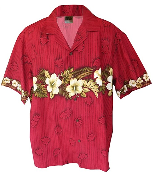 Exclusive Hawaiian all new Hibiscus in Paradise Aloha shirt by Winnie Fashion