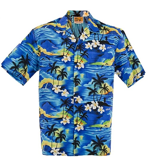 Exclusive Hawaiian Orchid Aloha Shirt by Winnie Fashion